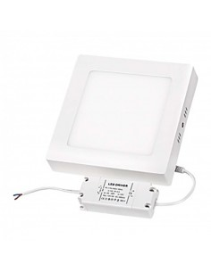 LedOne Panou LED cu montaj la suprafata, patrat, 12W, SMD2835, lumina calda Megazin Online Pret Ieftin