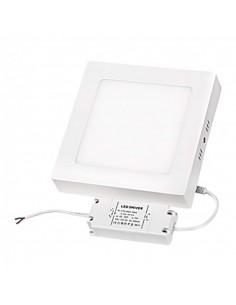 LedOne Panou LED cu montaj la suprafata, patrat, 12W, SMD2835, lumina neutra Megazin Online Pret Ieftin
