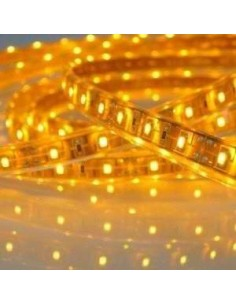 LedOne Banda LED FLEXIBILA , SMD3528, 12V DC, 4.8W/M, 60LED-uri/M, galben, 5m, nerezistenta la apa Megazin Online Pret Ieftin