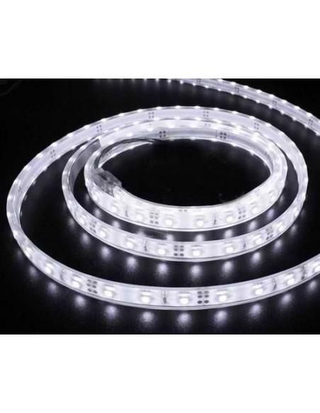 Banda LED flexibila, SMD3528, 12V DC, 4.8W/M, 60LED-uri/M, alb cald, 5m, rezistenta la apa