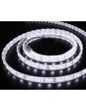 Banda LED flexibila, SMD3528, 12V DC, 9.6W/m, 120LED-uri/m,  alb cald, 5m, rezistenta la apa IP65