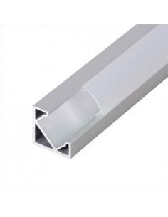 LedOne Profil de aluminiu pentru benzi flexibile cu LED, unghiular cu margine 2m Megazin Online Pret Ieftin