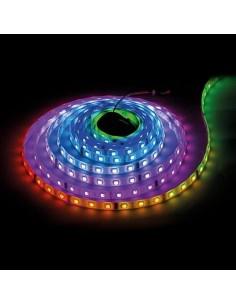 LedOne BANDA LED DIGITALA, SMD5050, 5V DC, IC WS2812B, 7,2W/m, 30 PIXELI/M, RGB, 5m, REZISTENTA LA APA IP67 Megazin Online Pret Ieftin