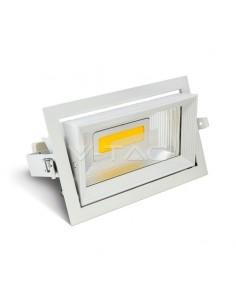 LedOne 30W LED Zoom Racord Spot Patrat 3000K Megazin Online Pret Ieftin