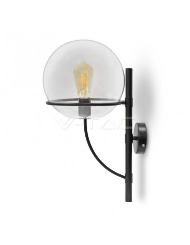 Lampa LED Perete Globe Shape Sticla Transparent 210