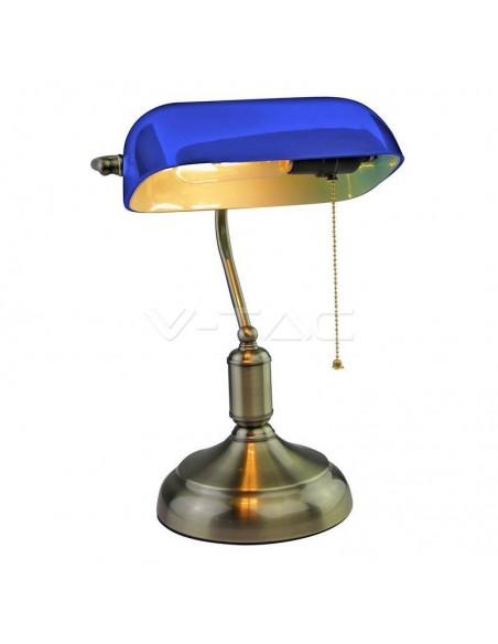 Lampa LED Birou Bancher Albastra E27