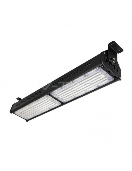 100W Corp iluminat LED Industrial Liniar High Bay Neagra 4000K