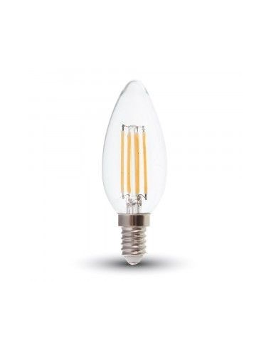 6W Bec LED Filament E14 Clear Cover Lumanare 3000K