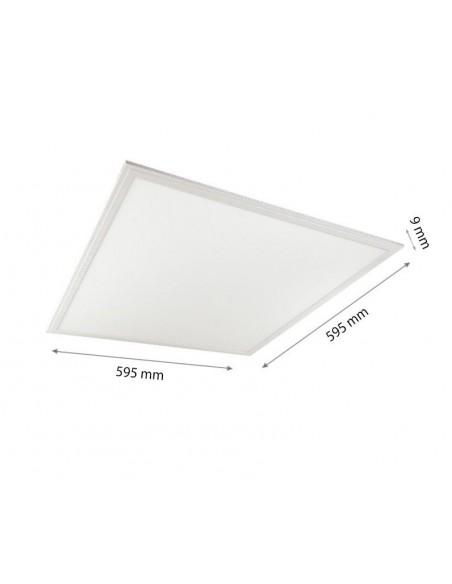 48W Panou LED Baie 60x60 3600lm Slim IP44 Alb Rece 6000K