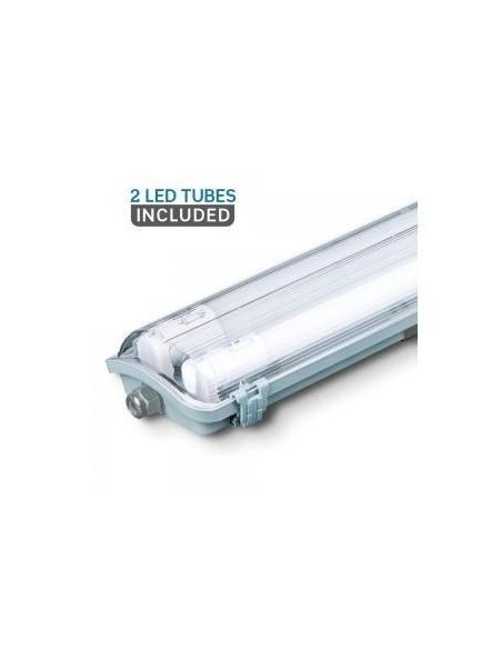 LED Waterproof Lamp PC/PC 2x1200mm  2x18W 6400K